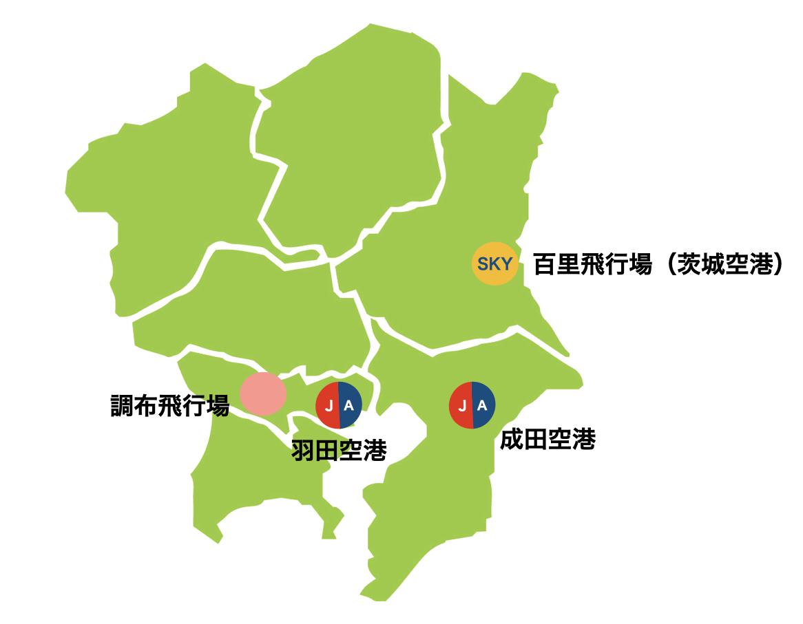 関東地方ー空港