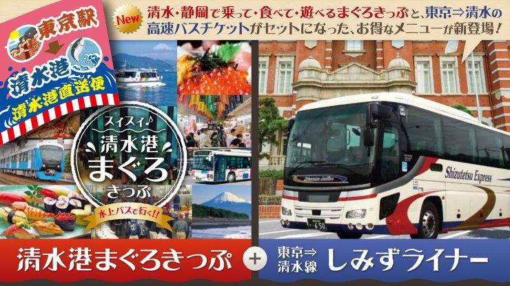 「しみずライナー乗車券+清水港まぐろきっぷ」