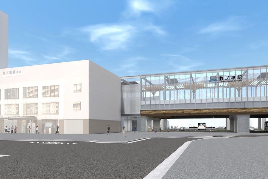 △竹ノ塚駅(完成イメージ)